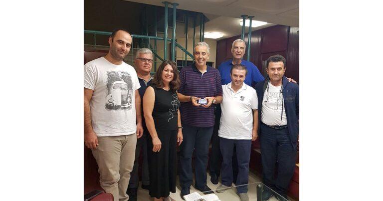 Συνάντηση με τον νέο Πρόεδρο του Αθλητικού Οργανισμού του Δήμου Καλλιθέας